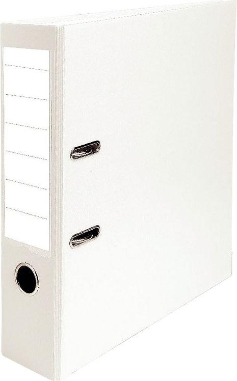 Classeur à levier pour format A4 dos 8 cm blanc