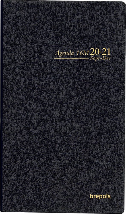 Agenda de poche interplan  8,9 x 16 cm coloris assortis