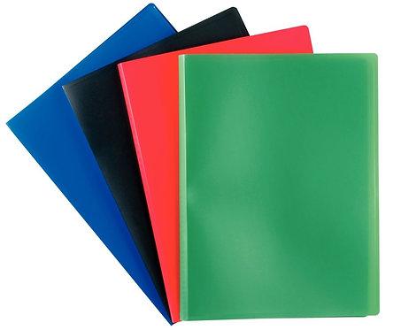 Protège documents couverture souple en polypropylène 120 vues bleu