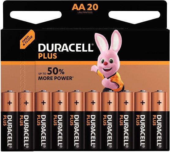 Blister 20 piles 1.5V plus LR06 alcaline