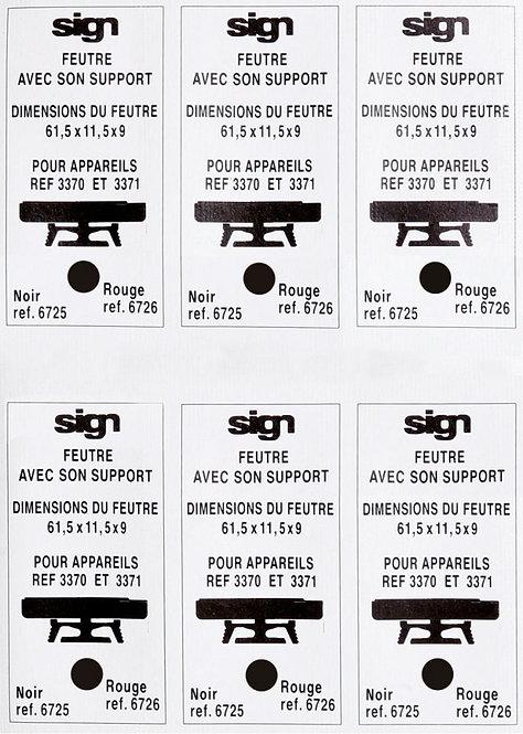 Blister de 6 recharges pré-encrées noir M6725