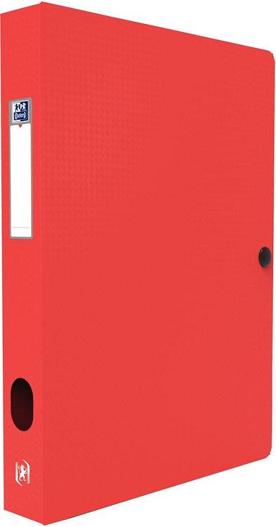 Boite de classement MEMPHIS en polypropylène, dos de 40 mm, coloris rouge