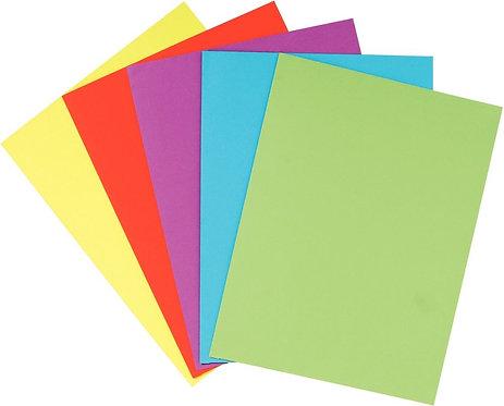 Paquet de 25 chemises double poches en carte 210g coloris assortis