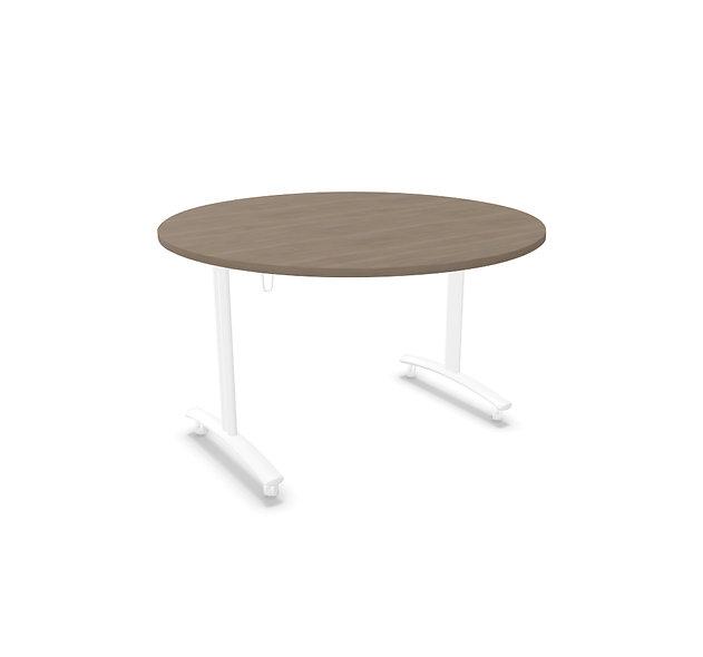 Table ronde basculante Athena - Piétement blanc