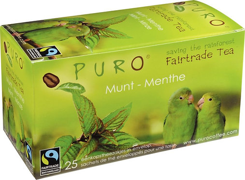 Boîte 25 sachets thé vert menthe