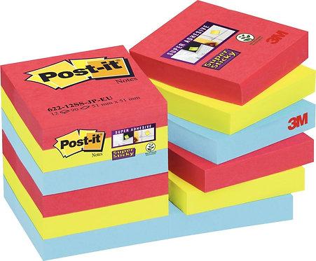 Paquet 12 blocs 90 feuilles SuperSticky post-it 476 x 476 mm Rio de Janeiro