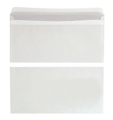 Boîte 500 enveloppes blanches C6 114X162 80g/m² autocollantes