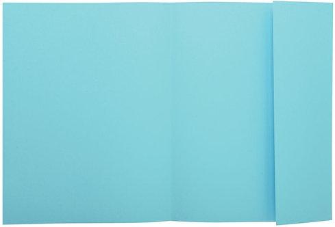 Paquet de 100 chemises 1 rabat 160g 24x32 cm bleu clair