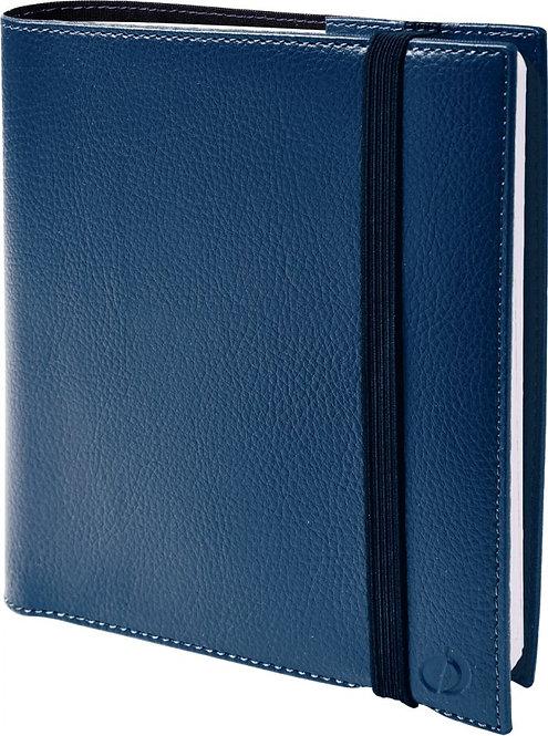 Agenda Time & Life 16 x 16 cm bleu métal
