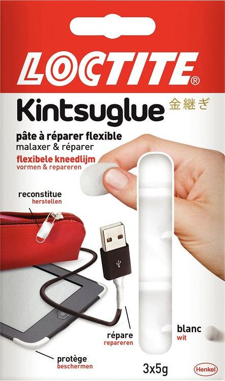 Blister de 3 sachets de 5 grammes de pâte adhésive flexible Kintsuglue