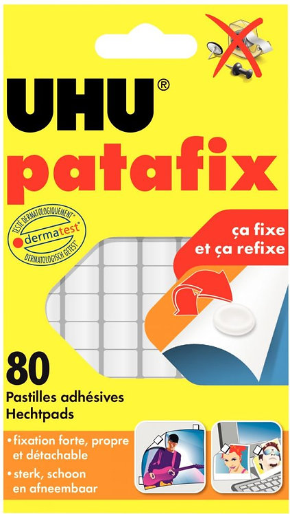 Blister de 80 pastilles adhésives PATAFIX blanche