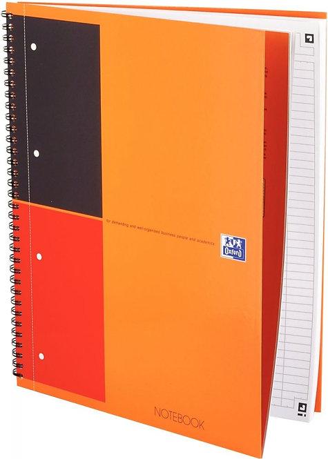 Cahier reliure intégrale NOTEBOOK SCRIBZEE A4+ ligné 6mm,160 pages perforées