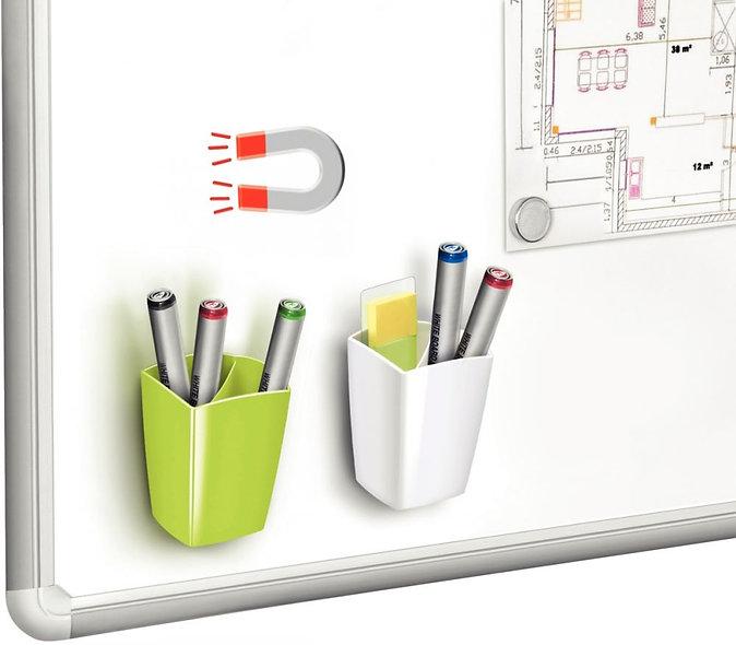 Pot à crayon magnétique couleur blanc