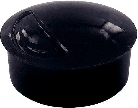 Blister de 6 punaises magnétiques, diamètre 22 mm.  Noir