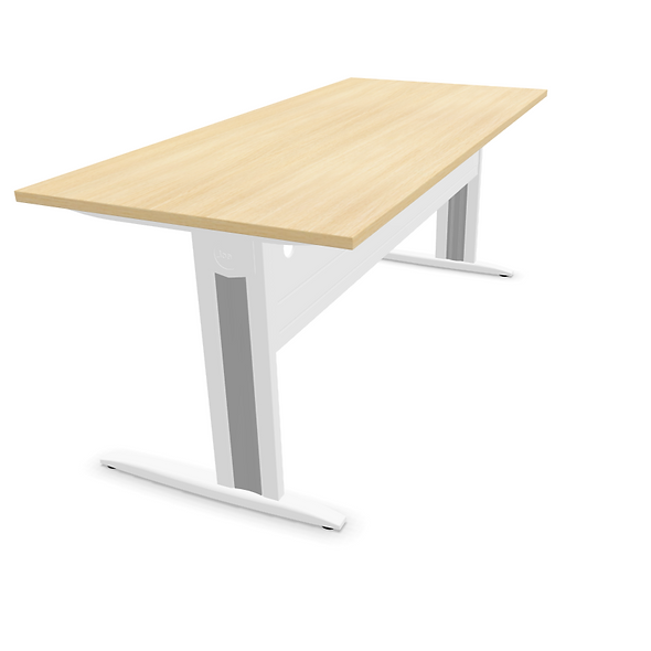 Table de bureau HARRY - Plan droit - Piétement Blanc