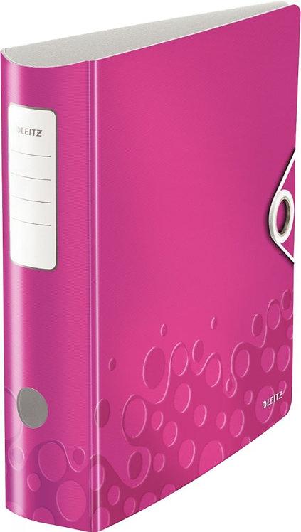 Classeur à levier en PP Polyfoam dos 8 cm format A4+ coloris rose LEITZ