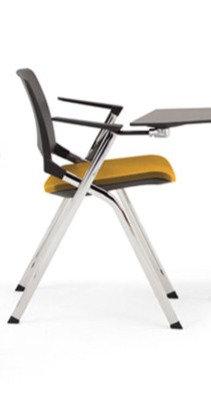 Chaise EMILE avec placet tissu, accoudoirs et tablette