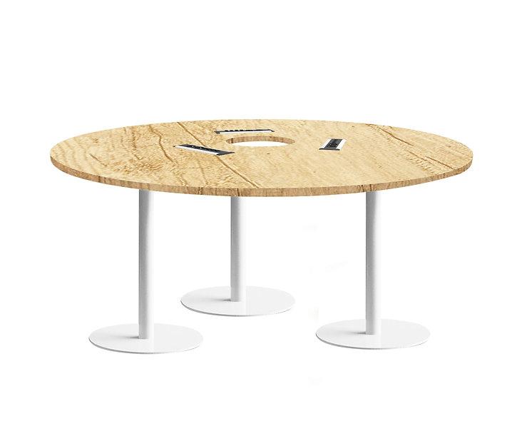 Table ronde JAROD - Capacité 6 à 8 personnes - Piétement Blanc
