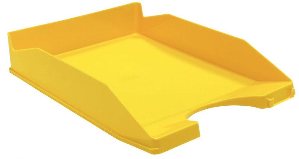 Corbeille à courrier opaque jaune