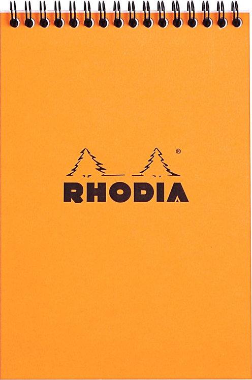 Bloc-notes à reliure intégrale RHODIA A5 160 pages quadrillé 5x5 blanc 80g