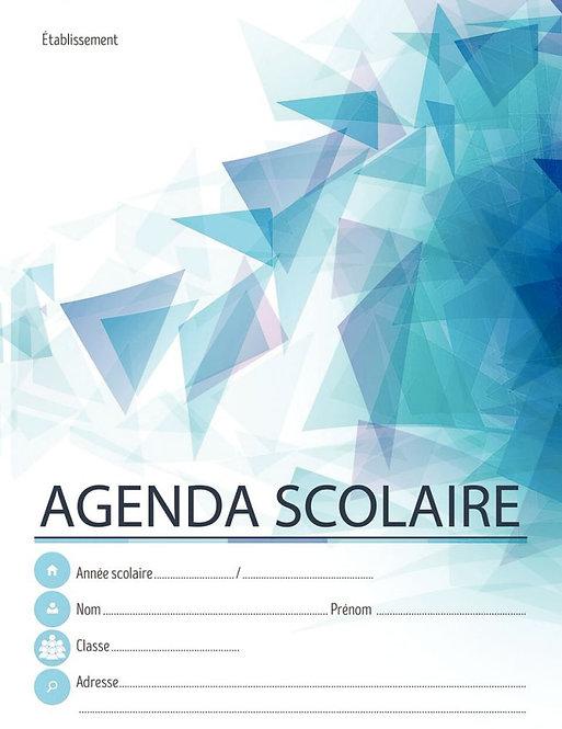 Agenda scolaire 17x22 cm 80 pages agrafées couverture dossier 250g