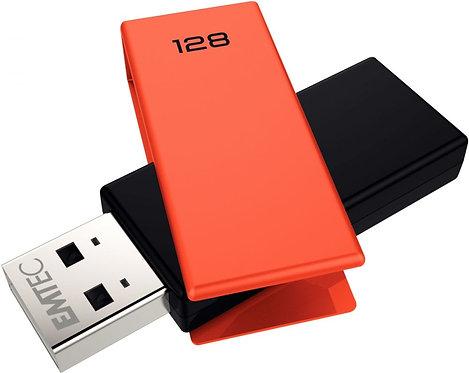 Clé USB Emtec Brick 2.0 C350 128 go orange