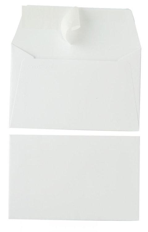 Paquet 20 enveloppes Pollen Clairefontaine format 9 x 14 cm 120g blanc