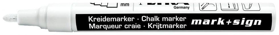 Marqueur craie pointe ogive 2-4 mm blanc