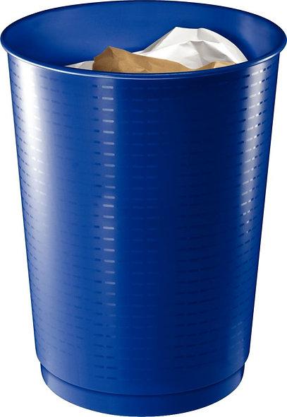 Corbeille à papier maxi-capacité en polypropylène Gloss bleu 40 litres