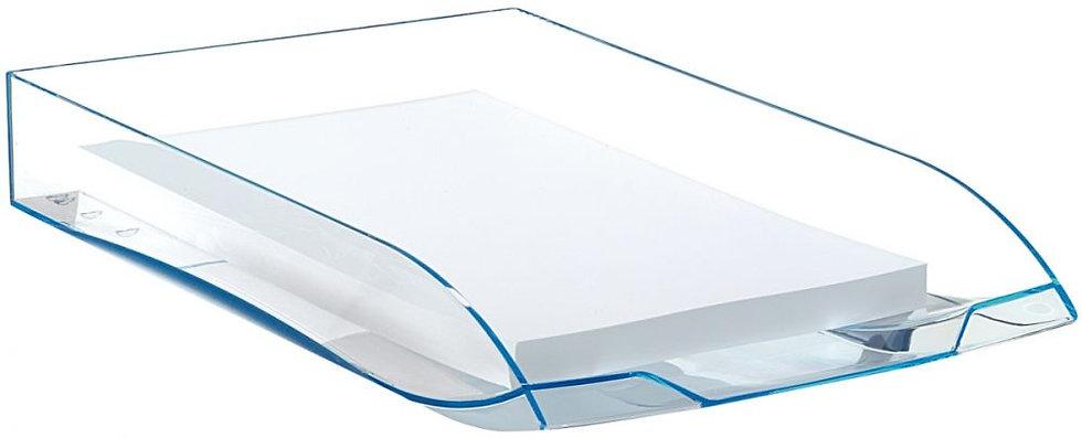 Corbeille à courrier ICE BLUE transparent