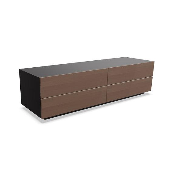 Meuble 4 tiroirs MAST - Structure Noir Brillant