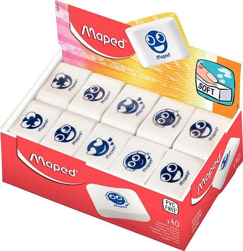 Boîte de 40 gommes assorties