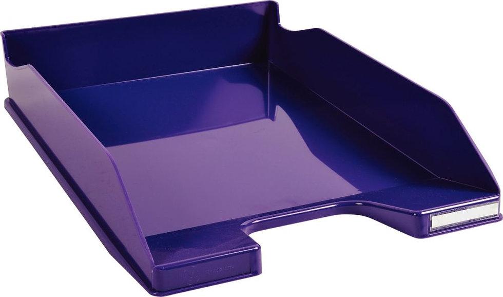 Corbeille à courrier A4+ violet gloss
