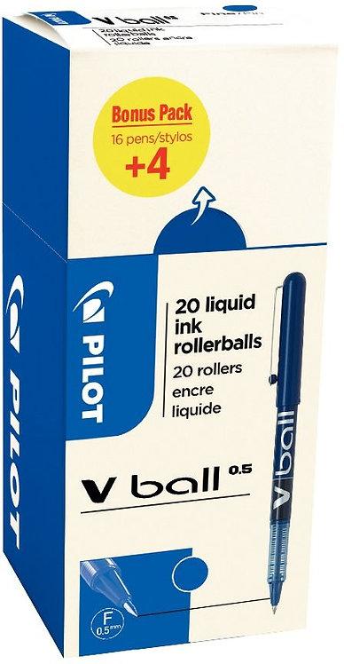 Ecopack 20 rollers VBall 5 bleu dont 4 offerts