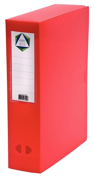 Boite de classement en polypropylène, dos 80 mm, coloris rouge
