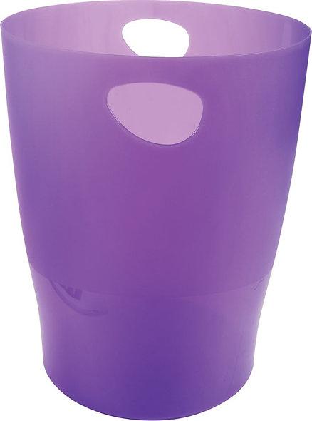 Corbeille à papier Ecobin violet translucide 15L