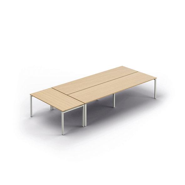 Bureaux structure partagée avec table en extrémité