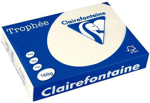 Paquet de 250 feuilles de papier 160g de format A3 ivoire TROPHEE CLAIREFONTAINE