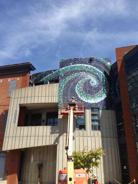Mosaic panel installation