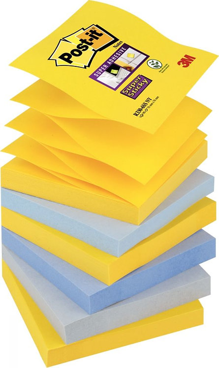 Lot 6 blocs 90 feuilles Z Notes Super Sticky post-it New York, 76x76 mm