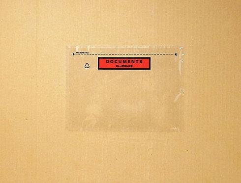 Boîte de 100 pochettes expédition auto-adhésives documents ci-inclus 228x165mm