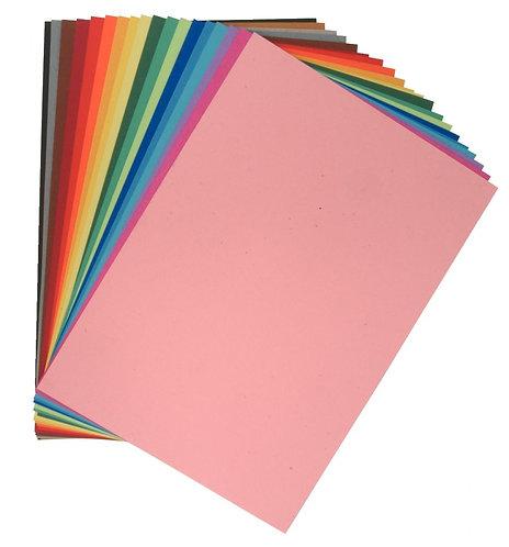 Paquet de 10 feuilles papier dessin couleur format 50x65 cm 160 g jaune d'or