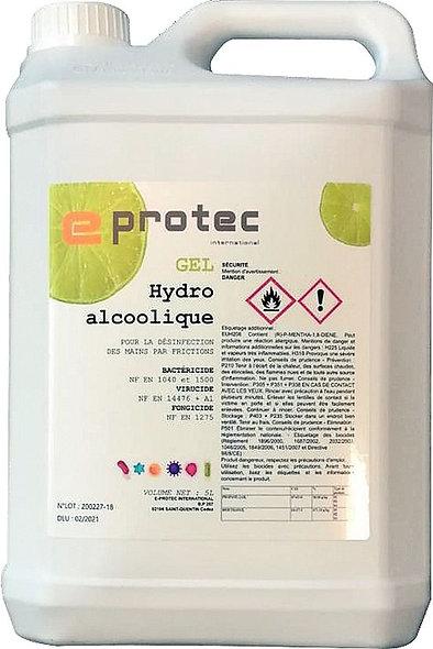 Recharge gel hydroalcoolique citron EN14476 5 litres