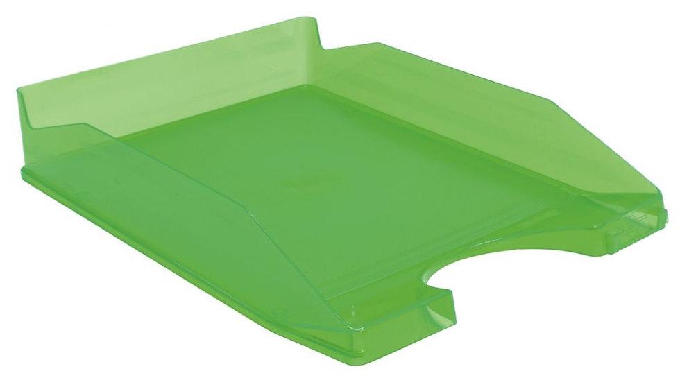 Corbeille à courrier translucide vert