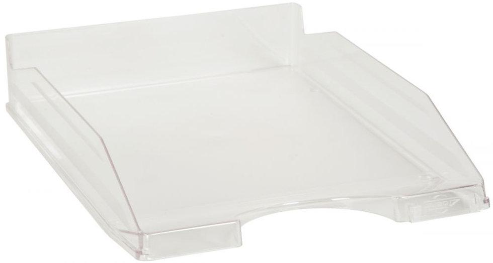 Corbeille à courrier translucide cristal