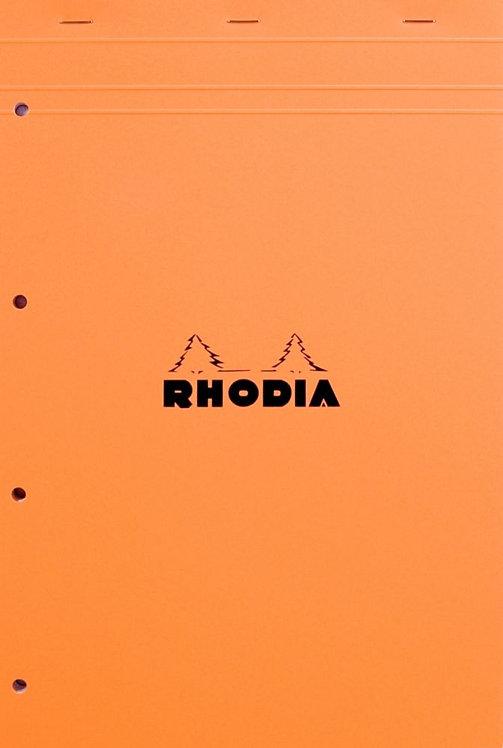 Bloc de bureau RHODIA A4+ 5x5 80 feuilles blanc détachables et perforées