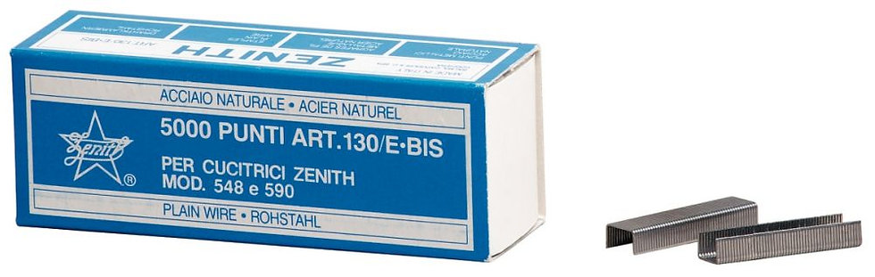 Boite de 5000 agrafes Zénith 130E galvanisées