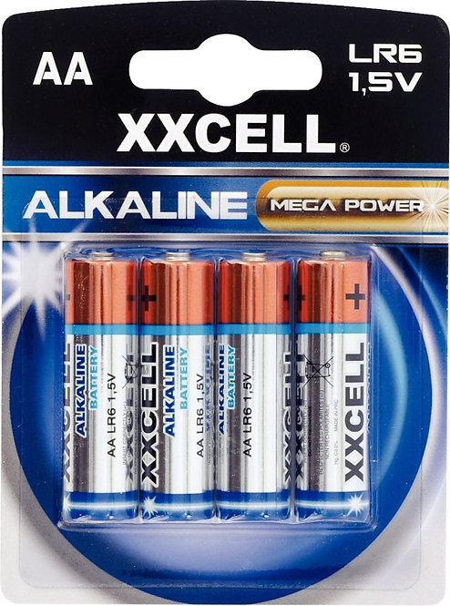Blister de 4 piles 1.5V LR06 alcaline XXCELL