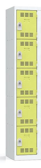 Vestiaire multicases - 1 colonne - 5 cases