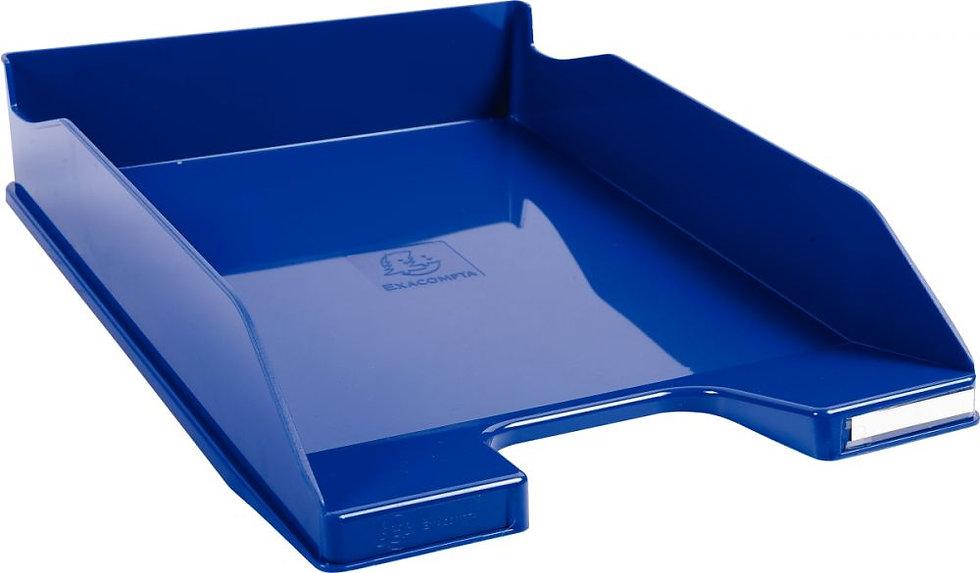 Corbeille à courrier A4+ bleu roi gloss